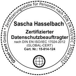 DIN ISO/IEC 17024 zertifizierter Datenschutzbeauftragter